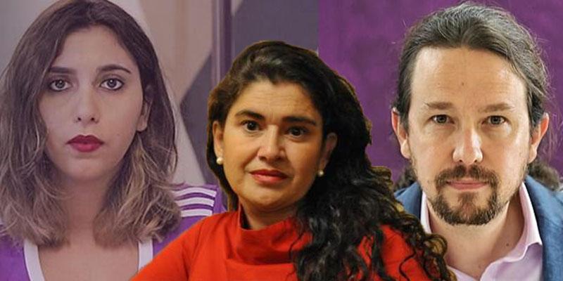 """Lucía Etxebarria se harta del acoso: Denuncia al panfleto de Podemos y a la """"amiga íntima"""" de Iglesias, Dina Bousselham"""