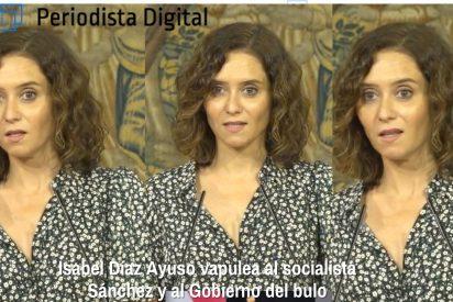 Isabel Díaz Ayuso vapulea al socialista Sánchez y su Gobierno del Bulo