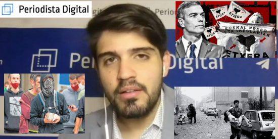 """Hugo Pereira: """"ETA ha resucitado en Mondragón gracias a Sánchez y su banda"""""""