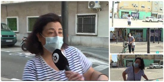 Entrevistan a una vecina sobre la inseguridad en su barrio y lo que pasa a continuación no tiene desperdicio