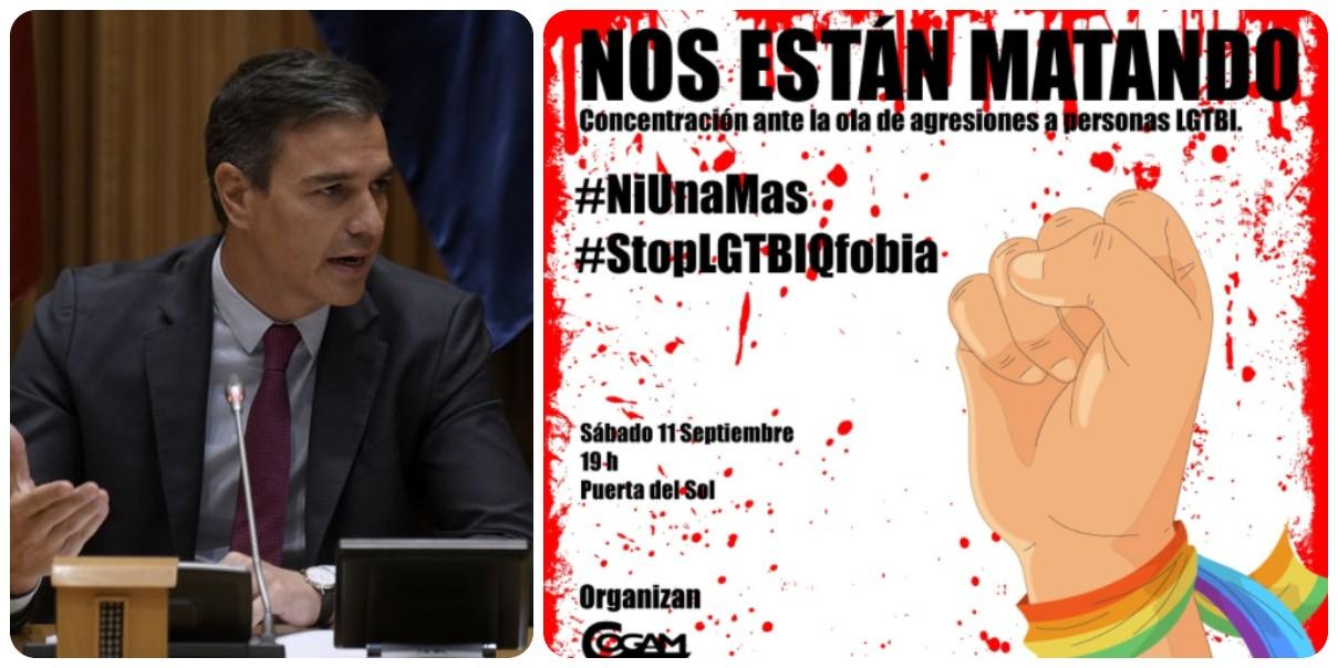 El PSOE entra en pánico y convoca a su militancia para evitar un sonoro pinchazo en la manifestación contra la homofobia