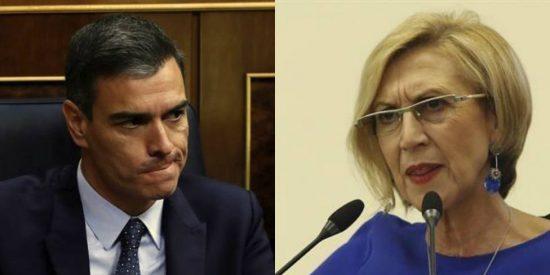 """Rosa Díez: """"Sánchez, usted es un traidor que legitima la trayectoria de los golpistas"""""""