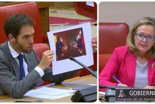 Sergio Sayas (UPN) le ajusta las cuentas a Nadia Calviño por la indecente foto del Gobierno con Bildu