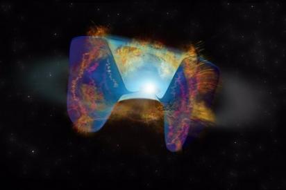 Los astrónomos observan por primera vez una poderosa colisión estelar que desencadena la explosión de una supernova