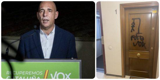 Un diputado catalán de VOX denuncia las pintadas amenazantes en la puerta de su casa