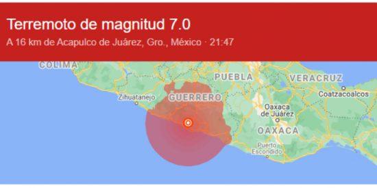 Un terremoto de magnitud 7,1 sacude el sur y centro de México