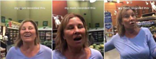 """Una negacionista tose sobre los compradores de un mercado de EEUU: """"¡El virus no existe!"""""""