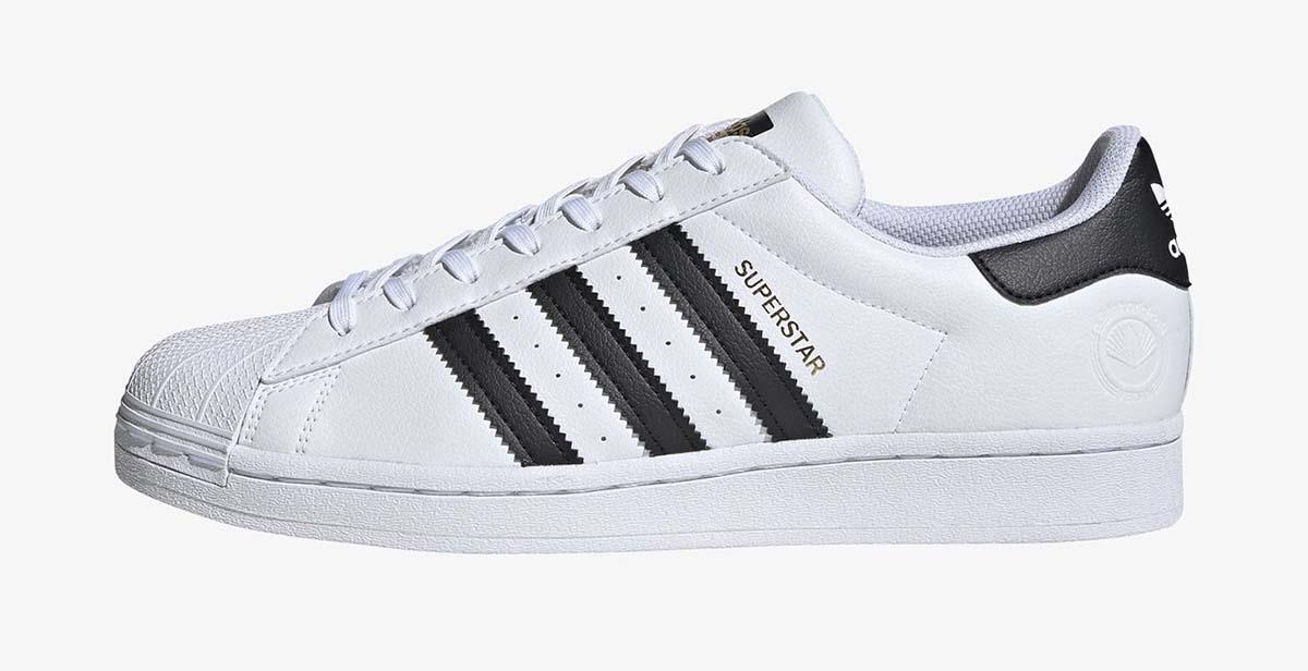 Adidas Superstar blancas con bandas negras