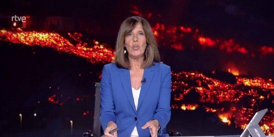 Ana Blanco (TVE) se mete en un jardín con una chusca comparación sobre el volcán de La Palma