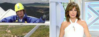 Ana Rosa reaparece en lo alto de un molino de viento, en otro día de récord de precio de la luz, para freír a Sánchez