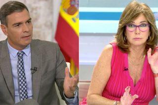 La cara que se le queda a Ana Rosa escuchando la última imbecilidad de Sánchez es la de todos los españoles