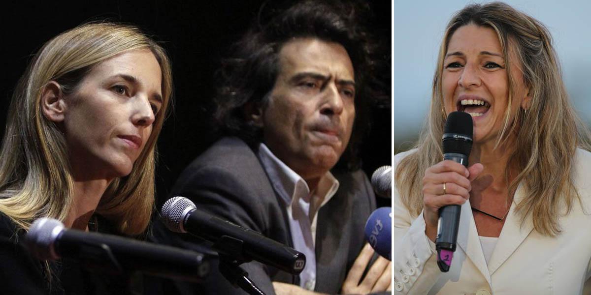 """Zurra combinada de Arcadi y Cayetana a Yolanda Díaz: """"Enarbola la misma bandera que tres dictaduras, sin vergüenza"""""""