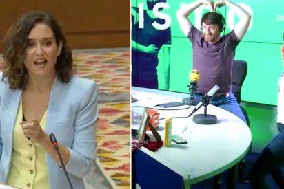 """Ayuso (PP) retrata a 'Pistolera' García (Más Madrid): """"Pasas del look 'pepero' con Ana Rosa al perreo en la SER"""""""