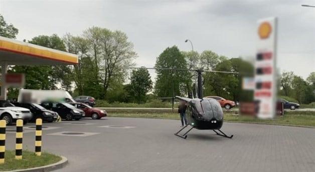 Lleva su helicóptero en una gasolinera de Alicante para repostar y acaba multado por la Guardia Civil