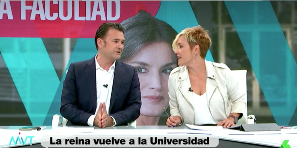 """La enfermiza inquina de Iñaki López hacia la reina Letizia termina mal en laSexta: """"¡Cállate ya!"""""""