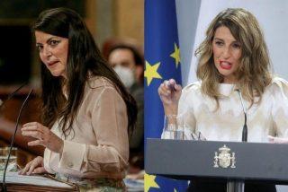 """Yolanda Díaz 'apoya' los ataques a la Policía y Olona le retrata: """"Eso es Podemos, violencia y desestabilización"""""""