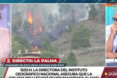 Mano de palos a Pilar Rahola y Risto Mejide por no tener ni idea de lo que hablan del volcán de La Palma