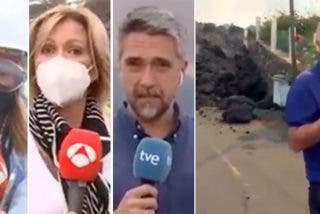 """Sustos de Piqueras y otros reporteros por acercarse demasiado: """"La próxima conexión será desde dentro del volcán"""""""