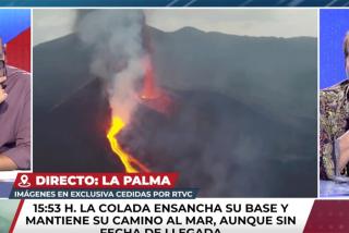 Celia Villalobos frena la miserable broma de Castelo ('TEM') relacionando la lava del volcán con la corrupción del PP