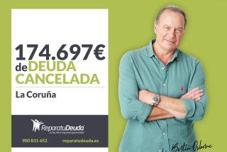 Repara tu Deuda Abogados cancela 174.697 € en A Coruña (Galicia) con la Ley de Segunda Oportunidad