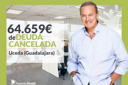 Repara tu Deuda Abogados cancela 64.659€ en Uceda (Guadalajara) con la Ley de Segunda Oportunidad