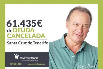 Repara tu Deuda cancela 61.435€ en Santa Cruz de Tenerife (Canarias) con la Ley de la Segunda Oportunidad