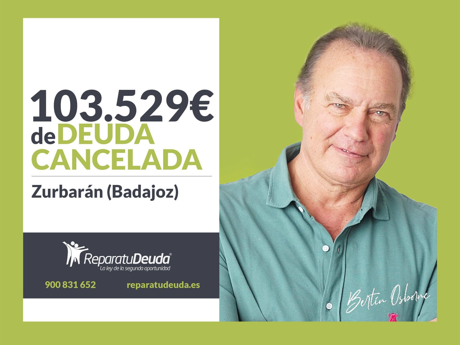 Repara tu Deuda Abogados cancela 103.529 € en Zurbarán (Badajoz) con la Ley de Segunda Oportunidad