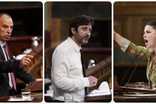"""Adanero (UPN), increpado por un diputado podemita al que Olona (VOX) desenmasacara: """"Fue el macarra de Rafa Mayoral"""""""