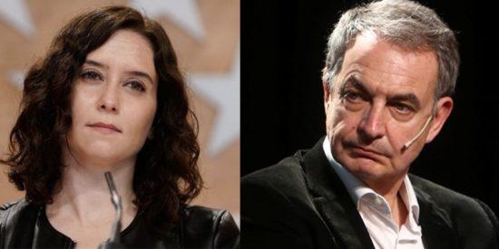 """Ayuso sobre el insolente blanqueo de Zapatero a Otegi: """"Ya sólo falta que diga que ETA es buena y el PP es malo"""""""