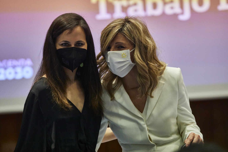 Las redes apuntillan a las podemitas Belarra y Díaz por presumir de la saqueadora Ley de Vivienda