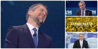 La audiencia da la espalda a TVE: Vicente Vallés supera en 1,2 millones al monográfico de Franganillo sobre el final de ETA