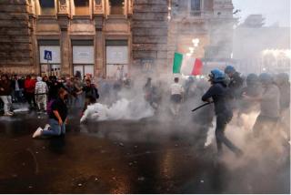 Las violentas protestas en Roma contra el pasaporte sanitario