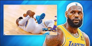 LeBron James sufre un golpe y paraliza los corazones de los fanáticos