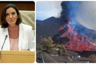 ¡Toma 'atractivo turístico, Reyes Maroto!: Se derrumba el flanco norte del volcán de Cumbre Vieja