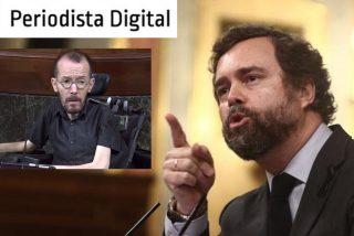 Cuando Espinosa (VOX) no hace a Echenique (PODEMOS) huir del Congreso, lo corre a palos en Twitter