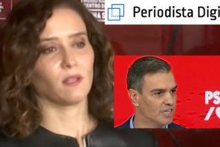 """Zasca en toda la boca de Ayuso (PP) a Sánchez (PSOE): """"busca que otros españoles odien a Madrid"""""""