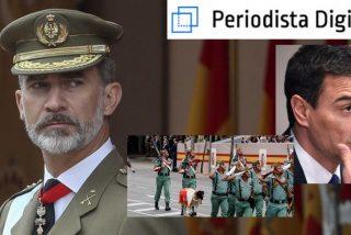 La gente recibe con abucheos y pitos al 'traidor' Sánchez en el desfile de la Hispanidad