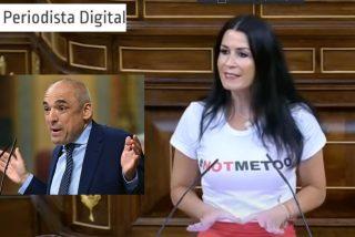 Carla Toscano, diputada de VOX, hace al socialista Simancas salir corriendo del Congreso como un conejo