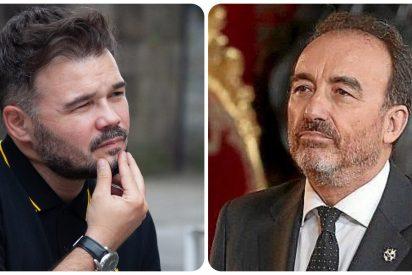 """El pataleo de Rufián contra la retirada del acta al podemita Rodríguez: """"Marchena, nuevo presidente del Congreso"""""""
