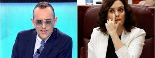 """Mejide manda un reportero a provocar a Ayuso después que 'The Economist' la bautizó como """"la esperanza de la derecha"""""""