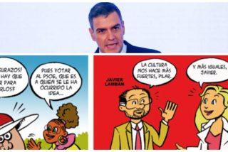 """Un viejo cómic socialista destapa el objetivo real del bono cultural: """"¿Quieres 300 eurazos? Vota al PSOE"""""""
