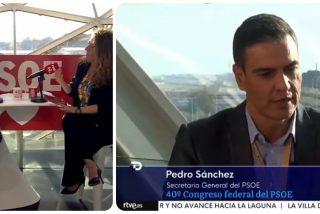 TVE desprecia a sus periodistas al colar en el Telediario una entrevista a Sánchez...¡hecha por la dircom del PSOE!