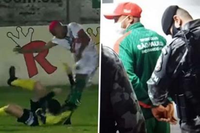Futbolista pega una descomunal al árbitro, le deja inconsciente y acaba detenido por la Policía