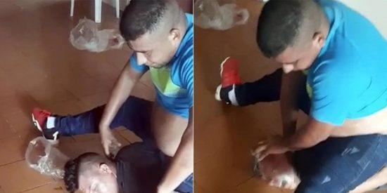 """El ex militar venezolano y su novia torturan delante de su pequeño hijo: """"¿Papá, te traigo la bolsa?"""""""