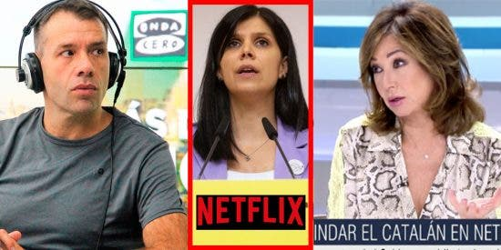 El chascarrillo de Ana Rosa y el genial encargo de Rubén Amón a los de ERC que quieren Netflix en catalán