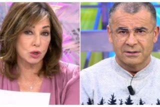 Mal rollo en Telecinco: Ana Rosa Quintana le da un 'sopapo' a Jorge Javier Vázquez sin despeinarse