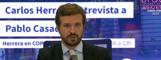 """Casado, con Herrera: """"Este Gobierno hace los Presupuestos al revés; primero ve cuánto gasta comprando votos"""""""
