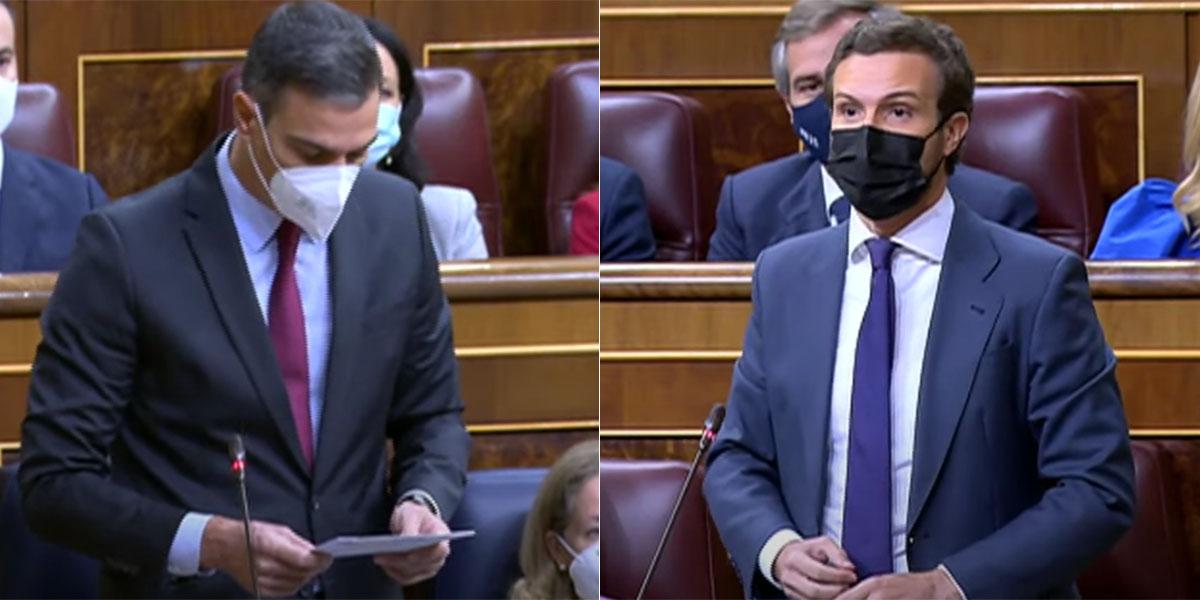 """Las 6 promesas de Sánchez que Casado ridiculiza en el Pleno: """"¡Sus Presupuestos son ruinosos!"""""""