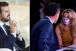 Encuestas: a Casado le basta con no equivocarse mientras Díaz se postula como la 'enemiga en casa' de Sánchez