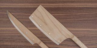 Crean unos cuchillos de madera tres veces más afilados que los de acero